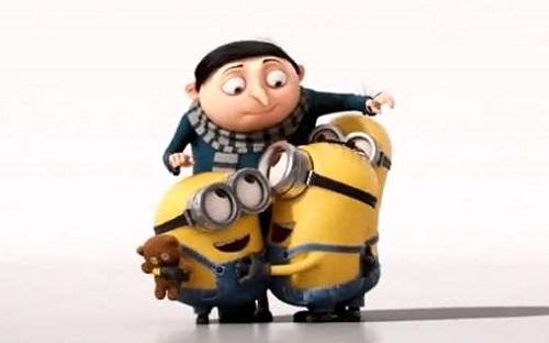Gru (giữa) và các minion. Ảnh: Universal.