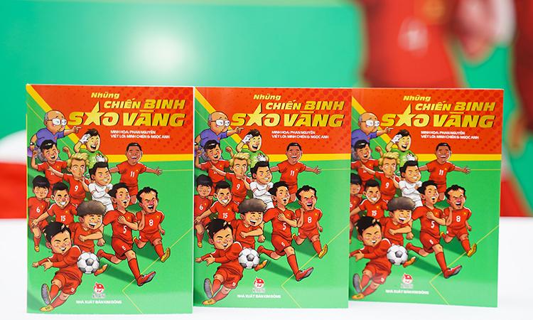 Sáchđiểm lại loạt thành tích của đội tuyển bóng đá Việt Nam dưới sự dẫn dắt của huấn luyện viên Park. Ảnh: NXB Kim Đồng.