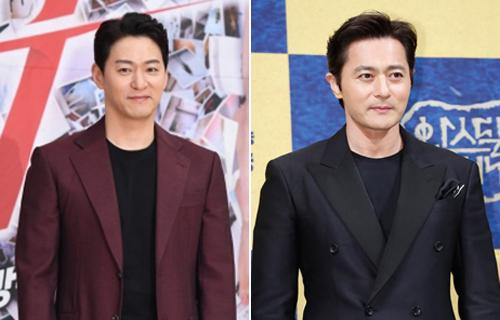 Hai tài tử Joo Jin Mo (trái) và Jang Dong Gun. Ảnh: MK.