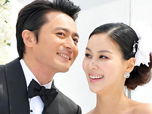 Vợ chồng Jang Dong Gun. Ảnh: Newsen.