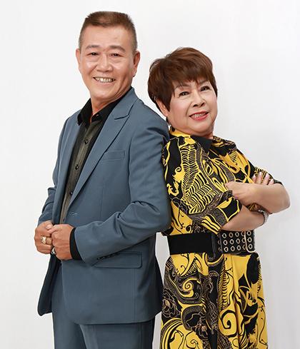 Vợ chồng nghệ sĩ Vũ Thanh - Lệ Hải. Ảnh: G.T.V.
