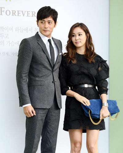 Jang Dong Gun và Go So Young. Ảnh: Newsen.