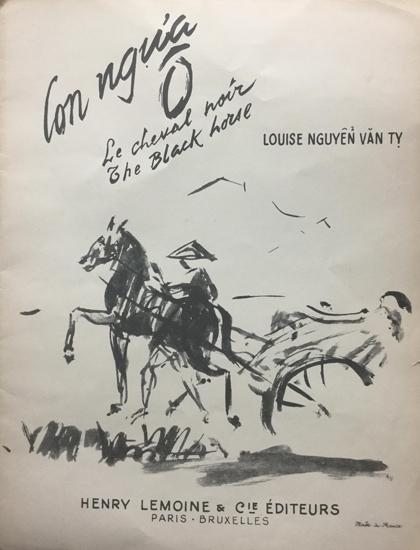 Ảnh bìa bản nhạc Con ngựa ô xuất bản năm 1951 tại Paris, Pháp. Bà lấy nghệ danh theo tên chồng là Louise Nguyễn Văn Tỵ.
