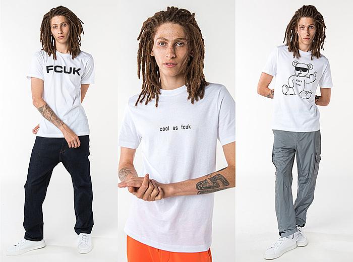 Các chàng có thể mix & match những chiếc áo thun basic in hình FCUK thời trang.