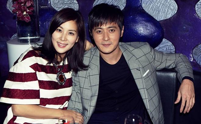 Vợ chồng Jang Dong Gun, Go So Young. Ảnh: Osen.