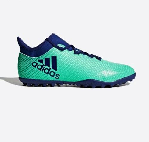 GiàyAdidas X Tango 17.3phối hai màu xanh ngọc và xanh dương. Thân giày mềm và chắc chắn, đem đến cảm giác thoải mái khi vận động, di chuyển tốc độ cao.Sản phẩm đang giảm 30%, còn 1,611triệu đồng (giá gốc 2,29 triệu đồng).