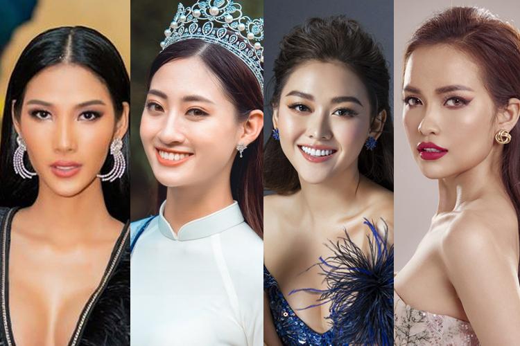 Hoàng Thùy, Lương Thùy Linh, Tường San, Ngọc Châu (từ trái qua) đều không có tên trong top 25.