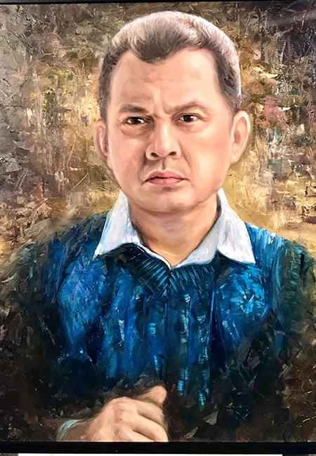 Phác họa nhân vật của Nghệ sĩ Ưu tú Hữu Châu trong phim Đôi mắt âm dương. Ảnh: Galaxy.