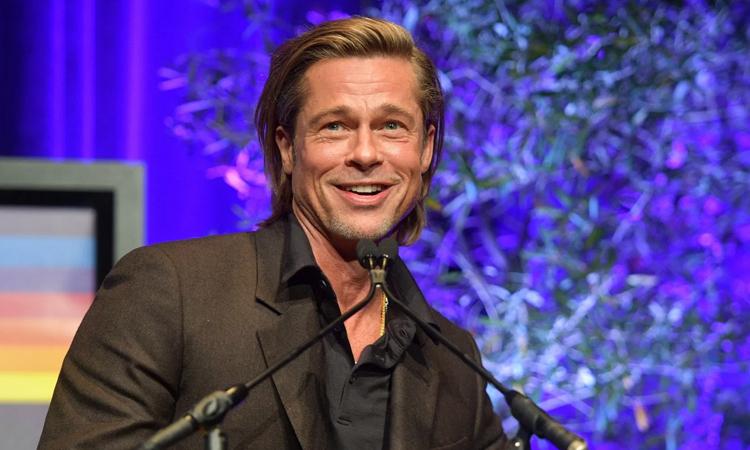 Brad Pitt tại liên hoan phim Santa Barbara hôm 23/1. Ảnh: SBIFF.