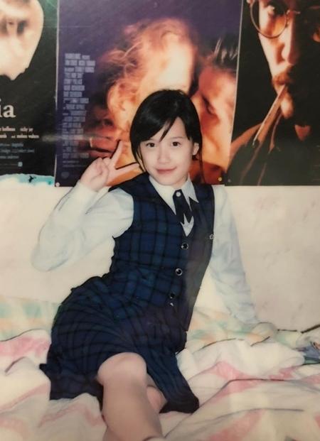 Hye Sun thời trung học. Cô mê các phim