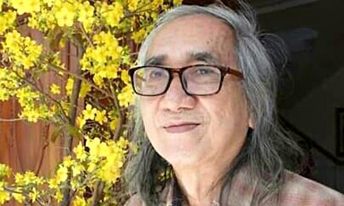 Nhà văn, nhà thơ Nhật Chiêu xuân Canh Tý. Ảnh: Võ Bảo Trâm.