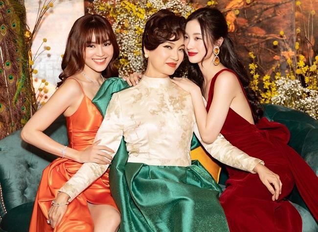 Từ trái sang: Lan Ngọc, Lê Khanh, Jun Vũ ở buổi ra mắt phim. Ảnh: V Media.