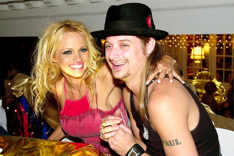 Ca sĩ Kid Rock là chồng thứ hai của Pamela. Hai người đính hôn tháng 4/2002, sau một năm hẹn hò nhưng chia tay không lâu sau đó. Năm 2006, cặp sao tái hợp và làm đám cưới nhưng ly dị sau một năm bên nhau.