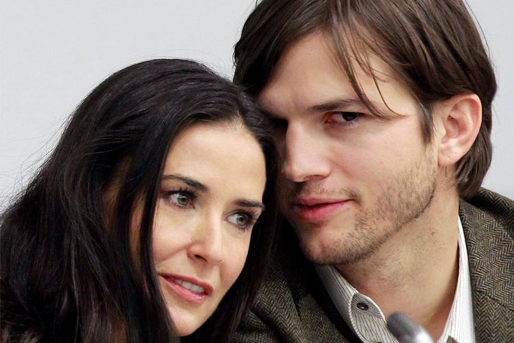 Ashton Kutcher và Demi Moore thời còn là vợ chồng. Ảnh: Reuters.