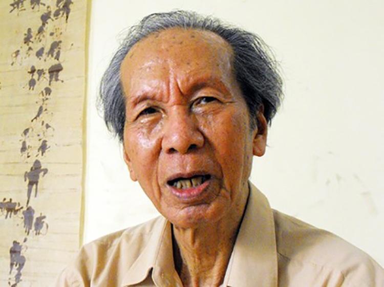 Nhà thơ, nhà báo, dịch giả, nhà nghiên cứu Bùi Đình Cẩn.