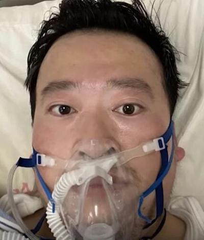 Bác sĩ Lý Văn Lượng khi được điều trị bệnh do virus corona. Ảnh: Weibo.