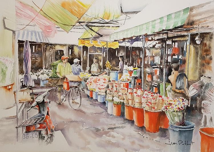 Sau đó, ông ttrở lại Việt Nam nhiều lần, dành nhiều thời gian du ngoạn khắp TP HCM, Hà Nội, Hạ Long, Bến Tre, Vũng Tàu... để chuyên tâm sáng tác tranh về Việt Nam với chất liệu màu nước.