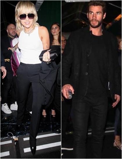 Miley Cyrus và Liam Hemsworth c?ng có m?t t?i b?a ti?c. C?p sao t? ch?i tr? l?i ph?ng v?n trong l?n ??u tham gia cùng m?t s? ki?n sau ly h?n. Miley xu?t hi?n r?ng r? trong b? ?? bó sát khoe than hình chu?n trong khi Liam di?n trang ph?c ?en, bi?u c?m nghiêm ngh?.?