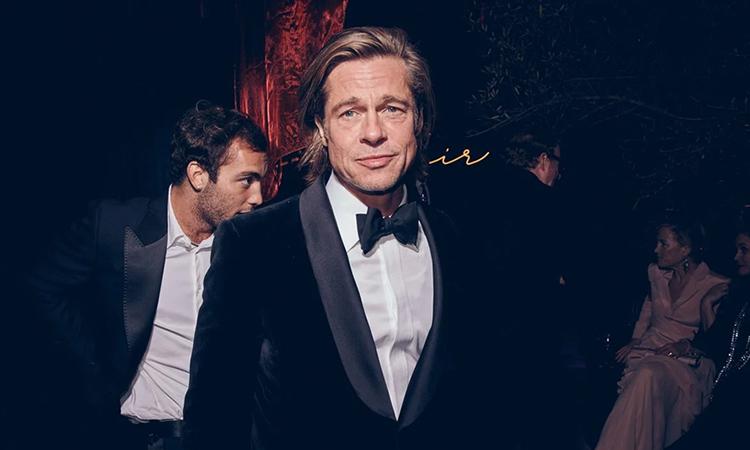 Brad Pitt d? ti?c sau l? trao gi?i Oscar. ?nh: VF.