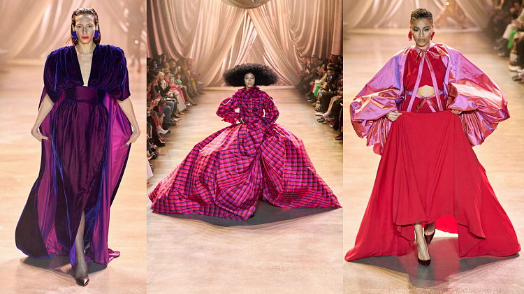 Bộ sưu tập Thu - Đông 2020 của Christopher John Rogers trình diễn trong khuôn khổ Tuần lễ thời trang New York – kéo dài từ ngày 3/2 đến 12/2, tại Spring Studios. Lấy cảm hứng từ sự tự tin, tôn vinh bản thân, thiết kế gồm những trang phục đồ sộ, nổi bật, màu sắc.