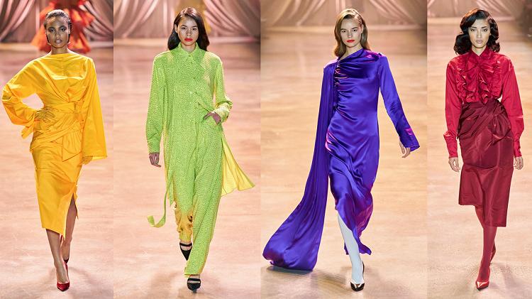 Vẫn giữ phong cách quen thuộc, Rogers mang tới bộ sưu tập tràn ngập sắc màu với tông neon chủ đạo. Teen Vogue nhận định với BST lần này, nhà thiết kế tạo nên vụ nổ màu sắc: 40 trang phục đơn sắc trải dài từ cam tới vàng, xanh neon, xanh biển, tím, hồng và cuối cùng là đỏ.