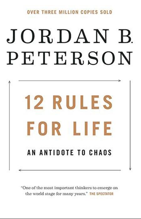 Bìa sách 12 rules for life: An Antidote to Chaos, Saigon Books mua bản quyền và phát hành.