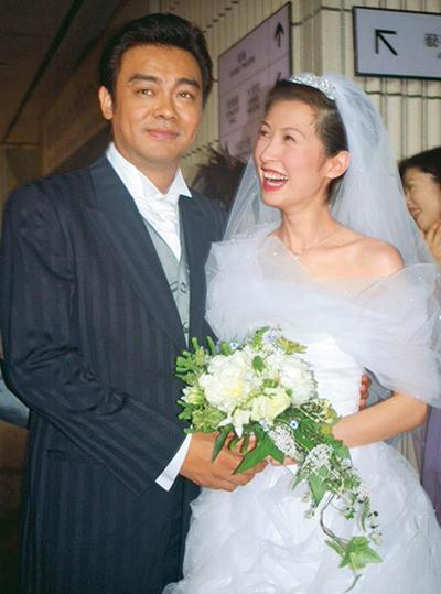 Vợ chồng Lưu Thanh Vân ngày cưới. Ảnh: Mpweekly.