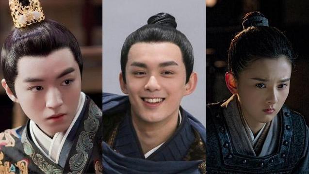 Dàn diễn viên chủ chốtđều để một kiểu tóc trong Thượng cổ mật ước. Ảnh: Weibo.