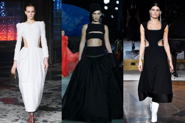 Những mẫu váy đơn sắc hở da thịt vừa đủ,