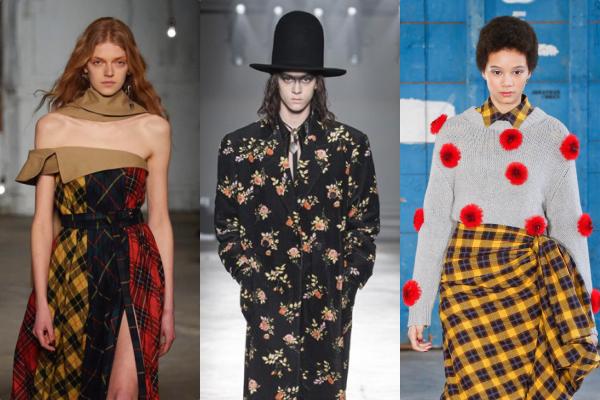 Phong cách Punk (mạnh mẽ, nổi loạn) kết hợp với stylethanh lịch, nữ tính qua họa tiết caro, in hoa...