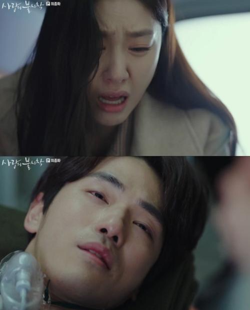 Khoảnh khắc bên nhau cuối cùng của Seo Dan - Goo Seung Joon. Ảnh: Dispatch
