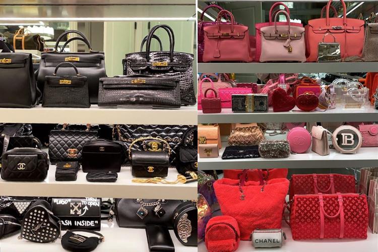 Bộ sưu tập túi của Kylie Jenner. Ảnh: Instagram.