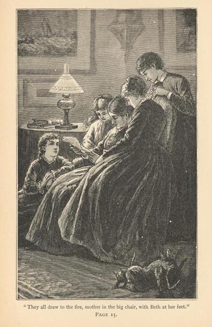 Little Women, bản in năm 1893. Ảnh: New York Public Library.)