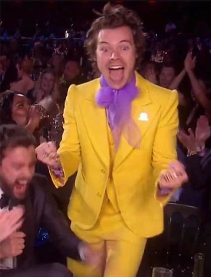 Harry Styles tại bữa tiệc sau lễ trao giải Brit Awards. Ảnh: Instagram.