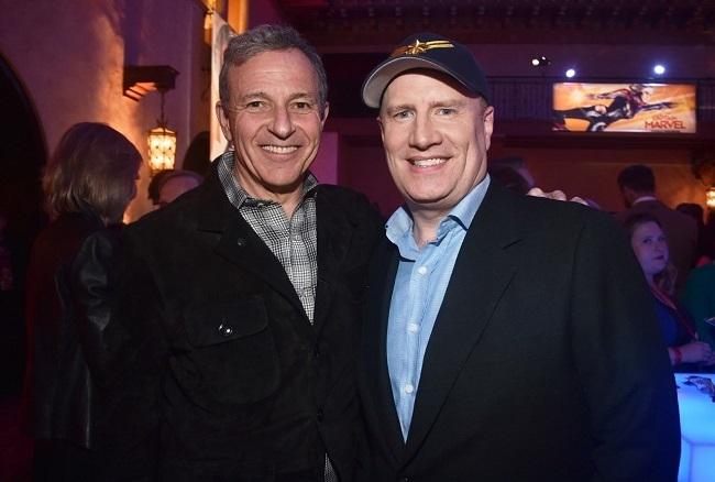 Bob Iger (trái) và Kevin Feige - chủ tịch Marvel Studios. Ảnh: Disney.