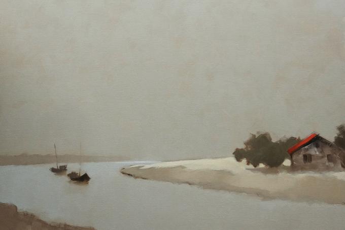 Nét đẹp vùng sông nước qua tranh sơn dầu