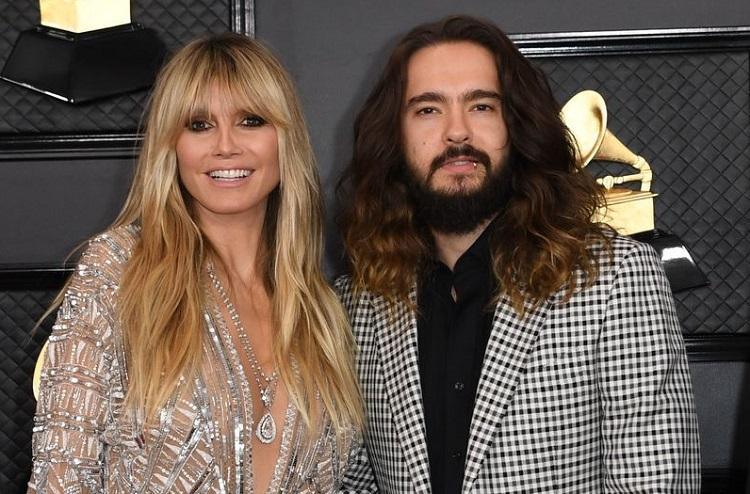 Heidi Klum vàTom Kaulitz ở giải Grammy hồi tháng 1. Ảnh: AFP.