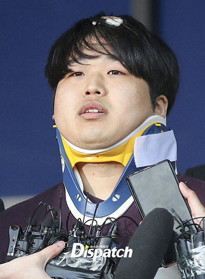 Cho Joo Bin trình diện cảnh sát. Ảnh: Dispatch.