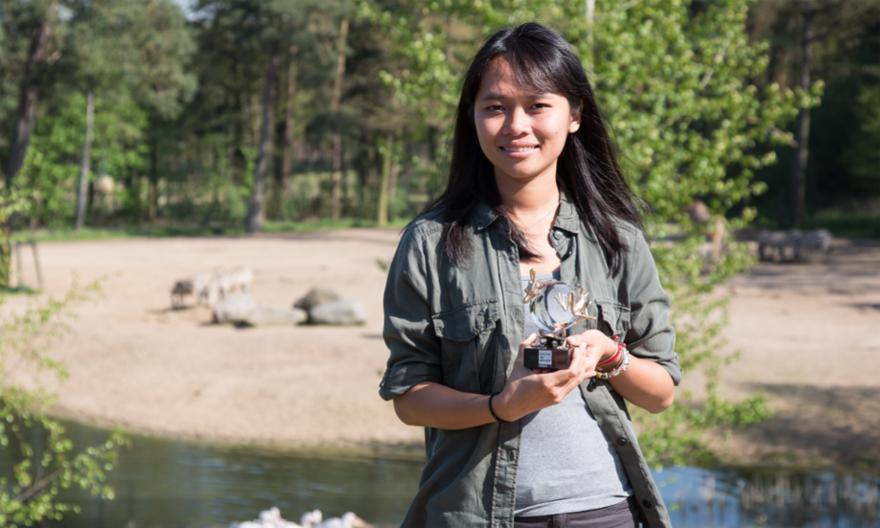 Trang Nguyễn viết sách dựa trên trải nghiệm của chính cô trong công việc bảo tồn động vật hoang dã. Ảnh: Nhân vật cung cấp.