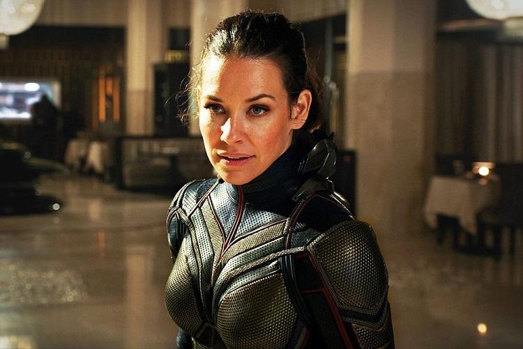 Evangeline Lilly trong tạo hình siêu anh hùng Wasp. Ảnh: Disney.