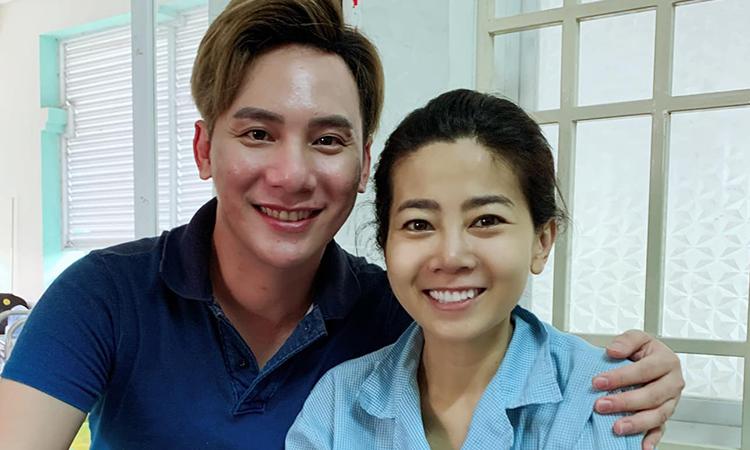 Ngọc Châu thăm Mai Phương ở bệnh viện 175 hồi năm 2019. Ảnh: Ngọc Châu.