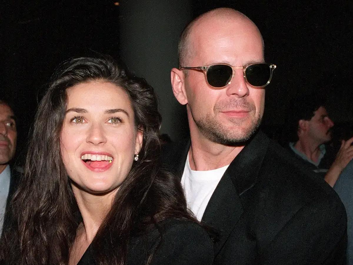 Demi Moore và Bruce Willis thời còn là vợ chồng. Ảnh: Insider.