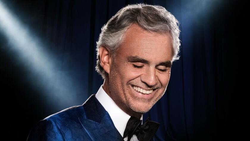 Ca sĩ, nhạc sĩ Andrea Bocelli sẽ diễn solo trong chương trình đặc biệt giữa thời dịch. Ảnh: LATimes.