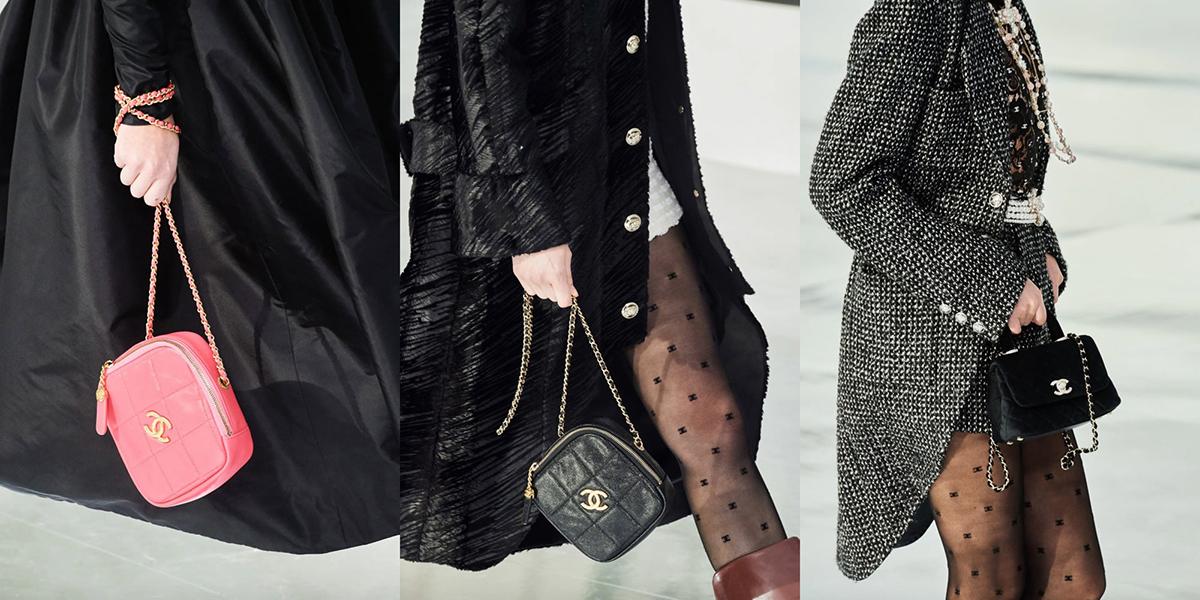 Dây đeo luồng xích kết hợp đường may quả trám được ứng dụng trên nhiều phiên bản túi khác nhau.