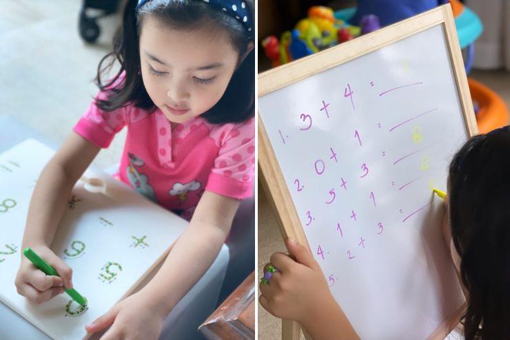 Con gái lớn - Zia - nghỉ học, cô dạy con học văn hóa cũng như các kỹ năng làm bánh, cắm hoa. Zia lên năm tuổi. Con trai thứ của đôi vợ chồng được một tuổi.