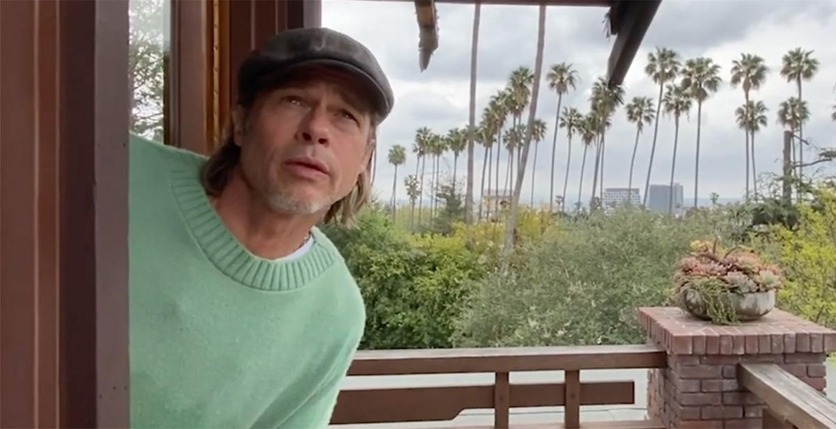 Brad Pitt làm MC thời tiết trên chương trình Some Good News. Video: SGN.