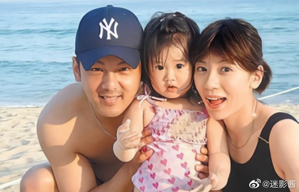 Giả Tịnh Văn, Tôn Chí Hạo và bé Ngô Đồng. Ảnh: Weibo.