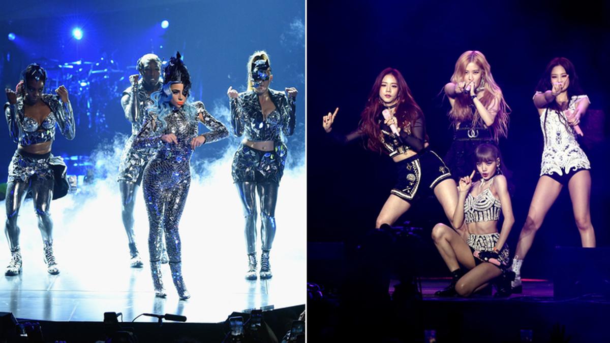 Lady Gaga và nhóm Blackpink (phải) hợp tác trong album mới. Ảnh: CNN.