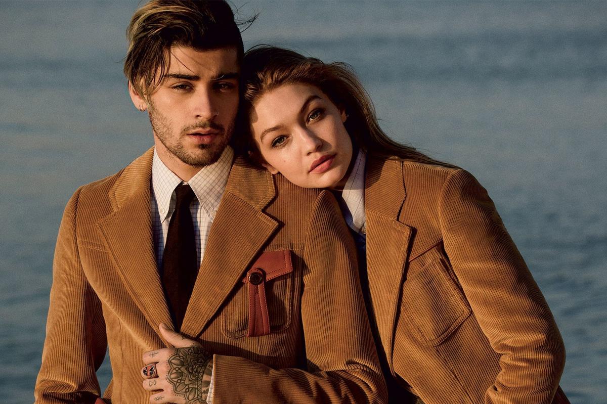 Gigi Hadid chụp ảnh thời trang cùng bạn trai. Ảnh: Vogue.