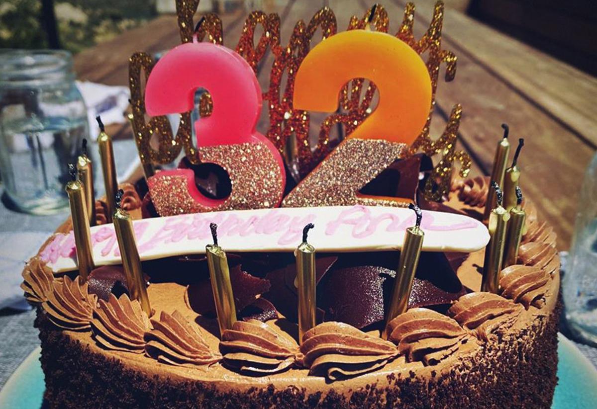 Bánh sinh nhật Ben Affleck chuẩn bị cho người yêu.
